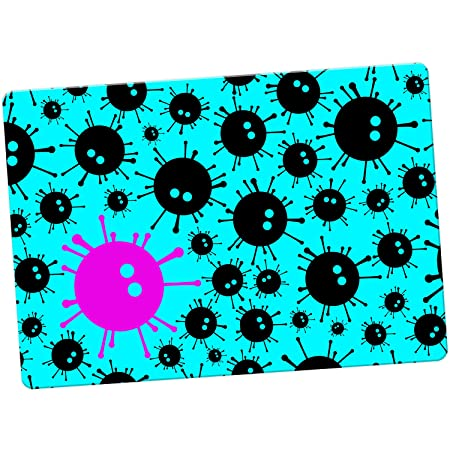 Negro diseño de monstruos con virus imán para nevera, Turquoise ...