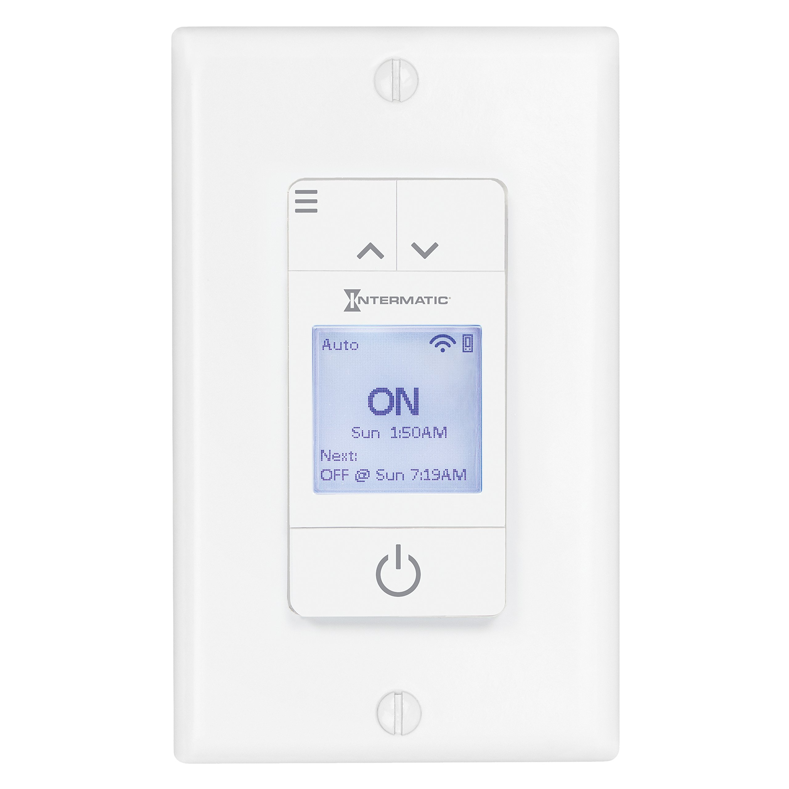 Ascend Smart Wi-Fi 15 Amp 7-Day Indoor Programmable In-Wall Timer, Works with Alexa, Auto Dst & Astro On/Off, White