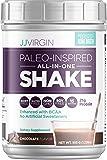 JJ Virgin Chocolate Paleo-Inspired All-in-One Shake - Paleo & Keto Friendly Protein Powder, 15 Servings