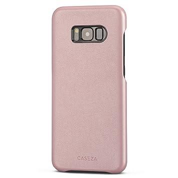 CASEZA Funda Galaxy S8 Plus Rosa Oro Rome Piel PU Case Cover Carcasa Tapa Trasera Piel Vegana Premium para Samsung Galaxy S8+ (6.2