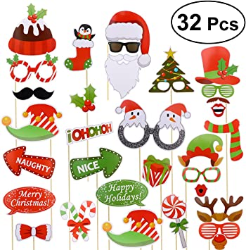 Accesorios Photocall Navidad Bodas Cumpleaños OULII 32 Piezas ...