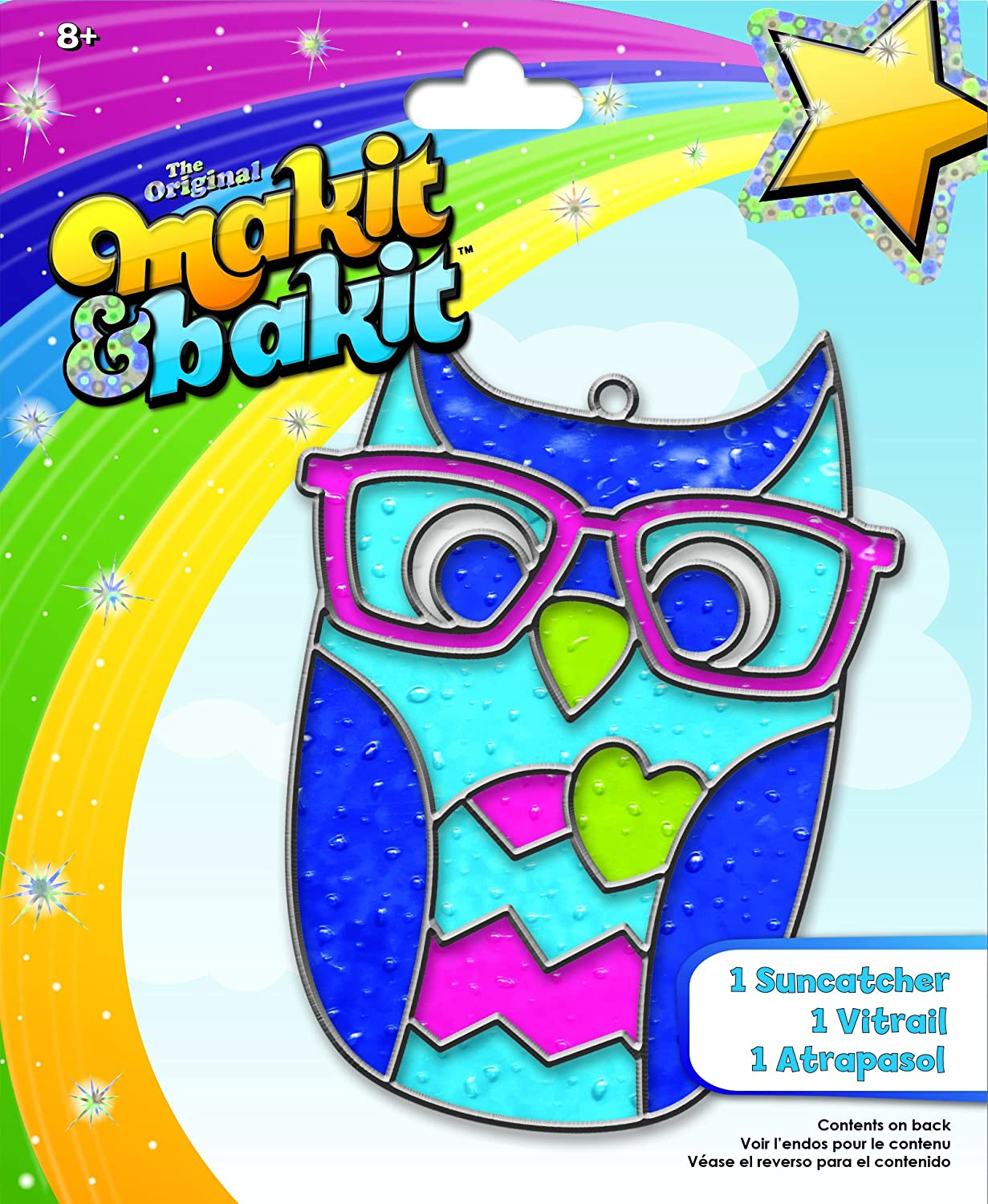 Colorbok TB-73245 Makit and Bakit Suncatcher Kit Owl