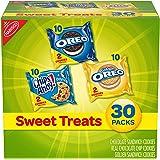 Nabisco Sweet Treats Cookies Variety Pack OREO, OREO Golden & CHIPS AHOY!, 30 Snack Packs ( 2 Cookies Per Pack)