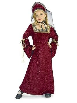 Disfraz de Lady Medieval para niña: Amazon.es: Ropa y accesorios