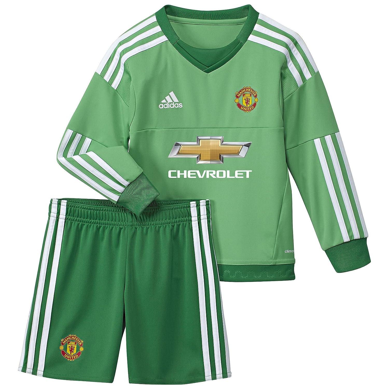 adidas MUFC H GK Mini - Chándal para niño, Color Verde/Blanco ...