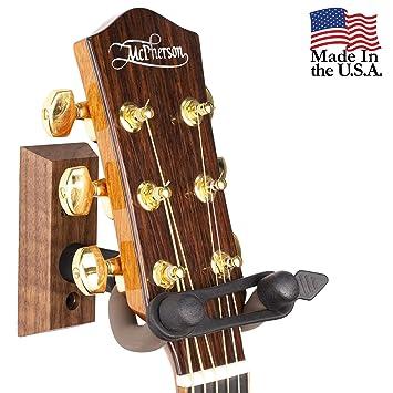 Percha de pared para guitarra eléctrica acústica y bajo, con correa de sujeción: Amazon.es: Instrumentos musicales