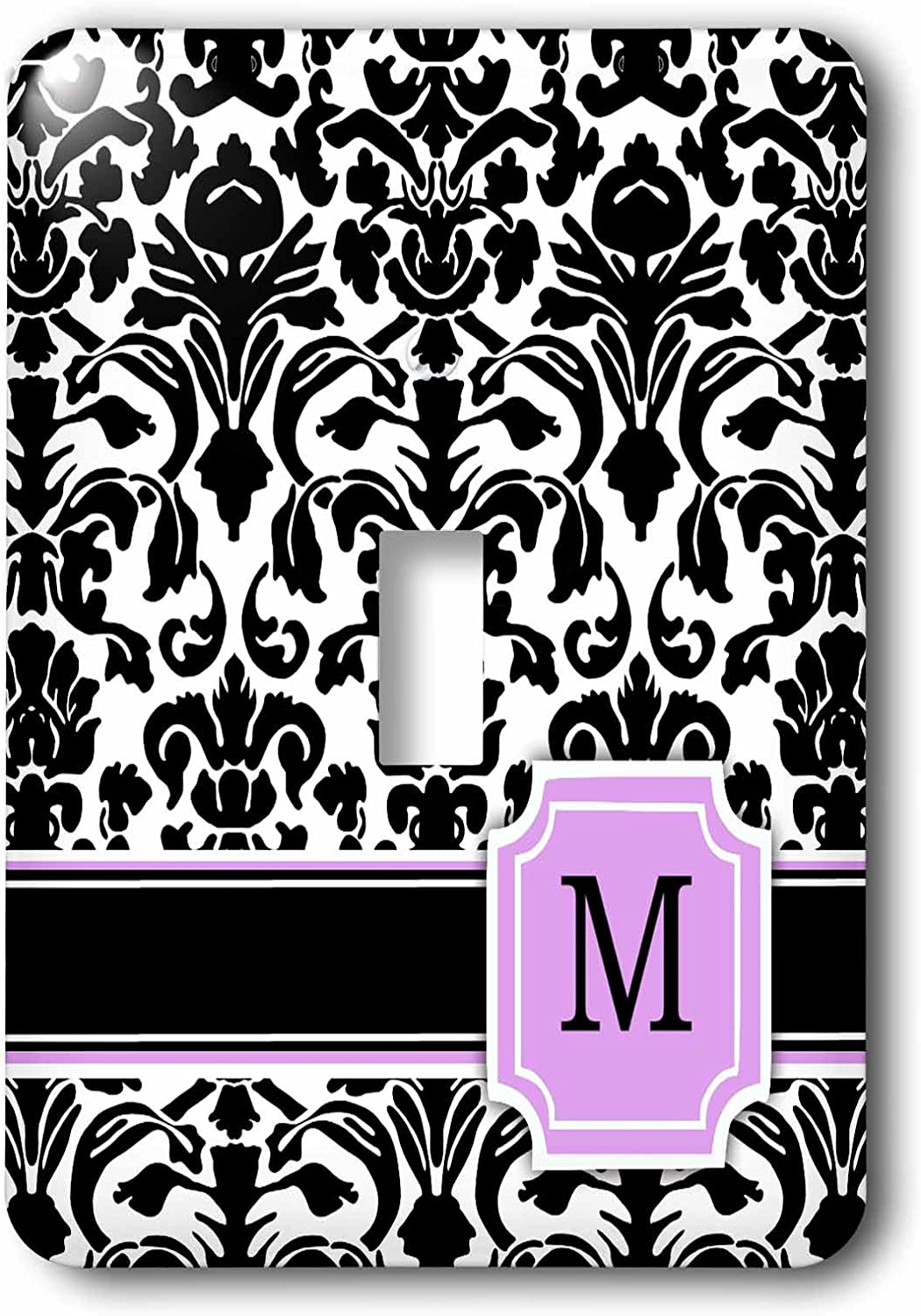 3drose Lsp 154388 1 Personal Initial M Monogrammed Pink Black And White Damask Pattern Girly Stylish Personalized Letter Light Switch Cover Wall Plates Amazon Com