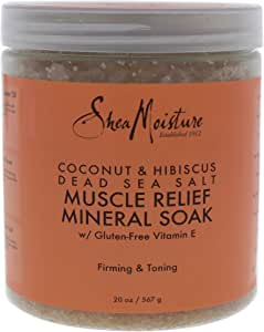 Shea Moisture Coconut and Hibiscus Dead Sea Salt Muscle Relief Mineral Soak, 567g