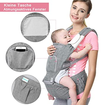 Babytrage Rucksack Säuglinge Bauchtrage Kindertrage Rückentrage Atmungsaktive