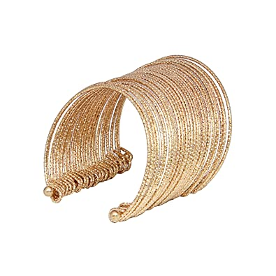 082c932d35a29 Buy EMBROCO Gold Metal Plated Hand Cuff Indian Trend Adjustable for ...