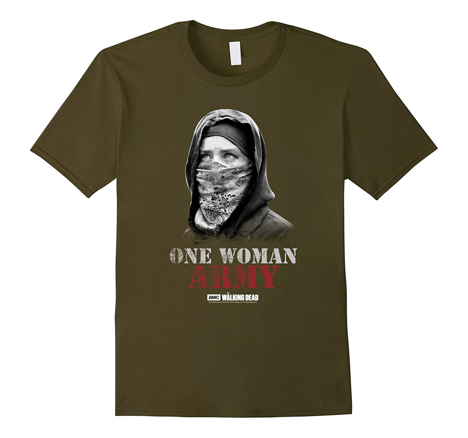 The Walking Dead One Woman Army T-Shirt-Art