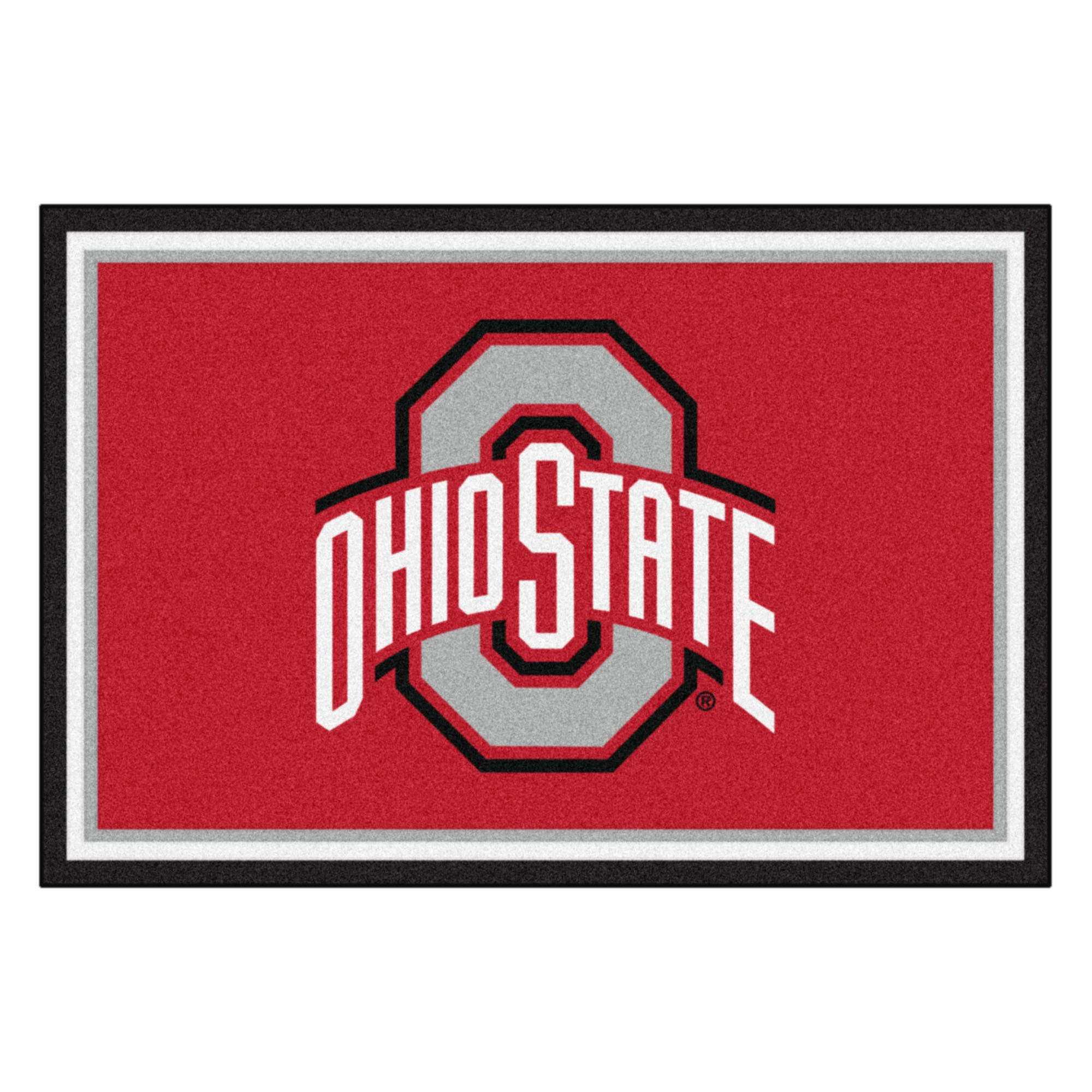 FANMATS NCAA Ohio State University Buckeyes Nylon Face 5X8 Plush Rug by FANMATS (Image #1)
