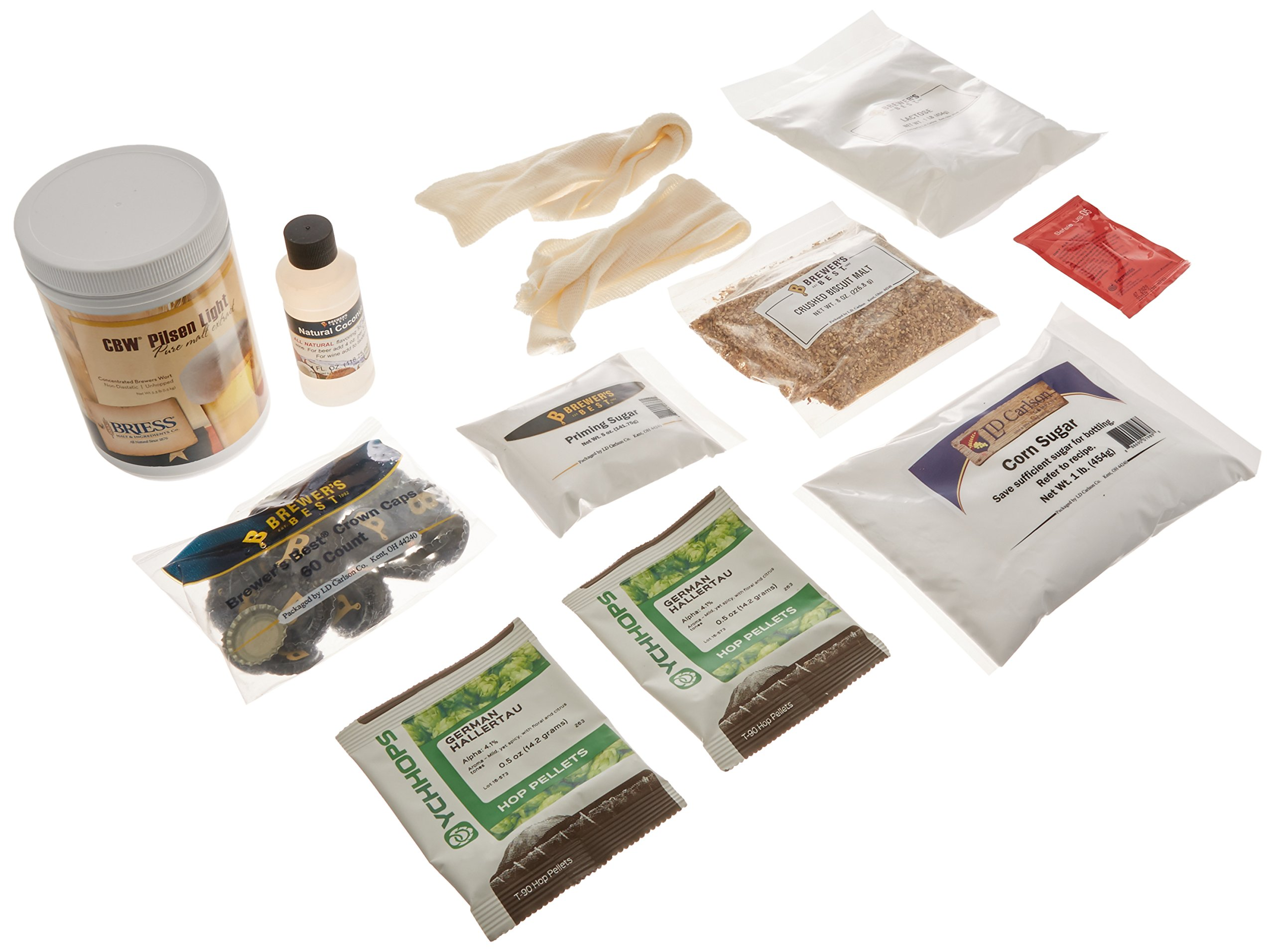 Brewer's Best Home Brew Beer Ingredient Kit-5 gallon(Toasted Coconut Cream Ale)