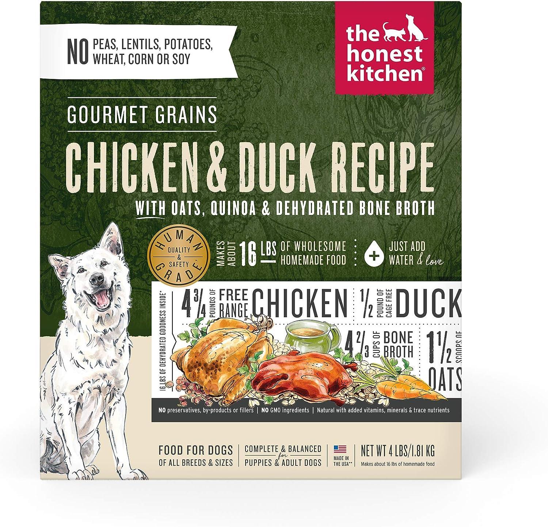The Honest Kitchen Gourmet Grains Chicken & Duck Recipe Dehydrated Dog Food, 4 lb box