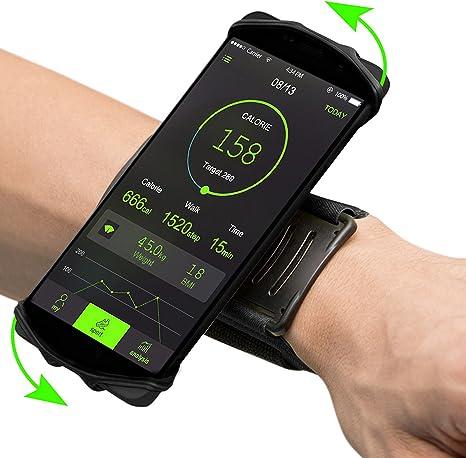 toaob universal brazalete deportivo para Smartphone 180 ° giratorio muñeca funda para correr Correr Ciclismo Senderismo: Amazon.es: Deportes y aire libre