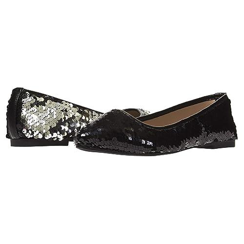 87d7beeb4e Amazon.com | Chatties Women's Ballet Flats Size 5-6 with Reversible Sequins  Shoes Black Silver | Flats