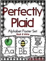 Perfectly Plaid | Black & White | Alphabet Poster Set