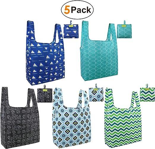 Amazon.com: Bolsas plegables y reutilizables para compras ...