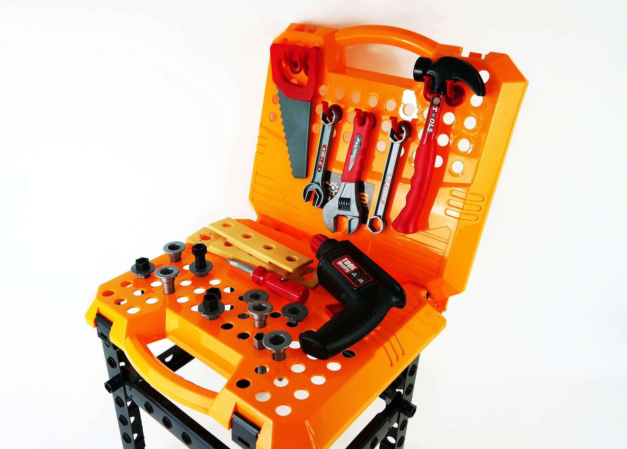 NBD Corp Kids Tool Box, Kids Handyman Tool Set with Stand