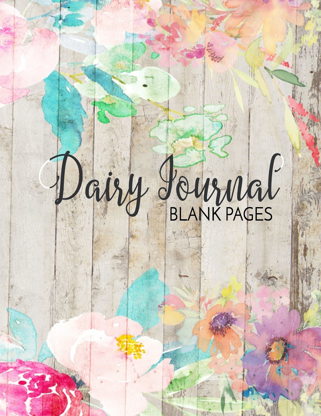 Diary Journal Blank Pages: 8.5 x 11, 120 Unlined Blank Pages For Unguided Doodling, Drawing, Sketching & Writing