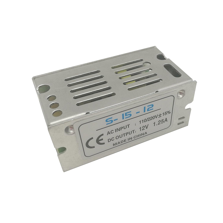 iksace DC 12 V LED transformador controlador de fuente de alimentació n adaptador para tira de luces LED IKSLED