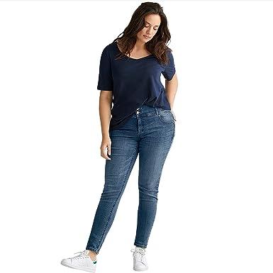 38b03b1638 Ellos Women s Plus Size Skinny High Waist Shaping Jeans at Amazon Women s  Clothing store