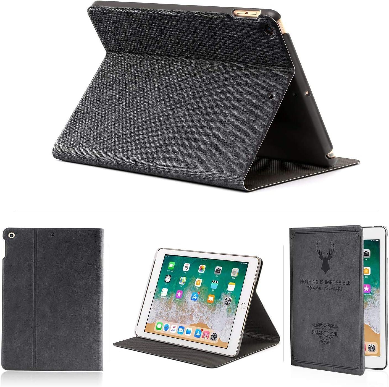 SmartDevil Funda Compatible iPad Mini 1 2 3, Contraportada Dura, Carcasa con Auto-Sueño/Estela, Negro