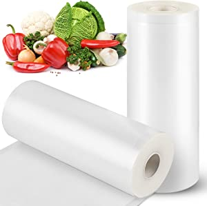 Vacuum Sealer Bags, STYFSCP 2 Rolls 8 Inch * 50 Foot Food Saver Bags for Food Saver, Seal a Meal, BPA Free Commercial Grade Heavy Duty Vacuum Sealer Rolls for Food Storage, Meal Prep or Sous Vide