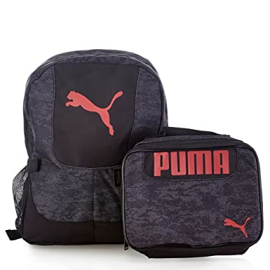 fbc19872a2 Amazon.com  PUMA Boys Color Block Backpack   Lunch Bag Set  Clothing