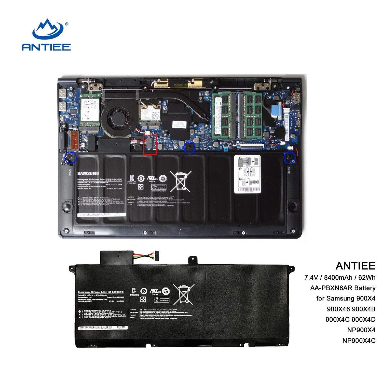 ANTIEE 8400mAh/62WH AA-PBXN8AR Batería para Ordenador portátil for Samsung Series 9 900X4 900X4B 900X4D NP900X4C 900X4B-A01DE 900X4C-A01: Amazon.es: ...