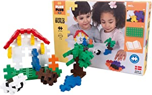 PLUS PLUS Big - Learn to Build Big Basic Color Mix, 60 Piece - Construction Building Stem / Steam Toy, Interlocking Large Puzzle Blocks for Toddlers and Preschool
