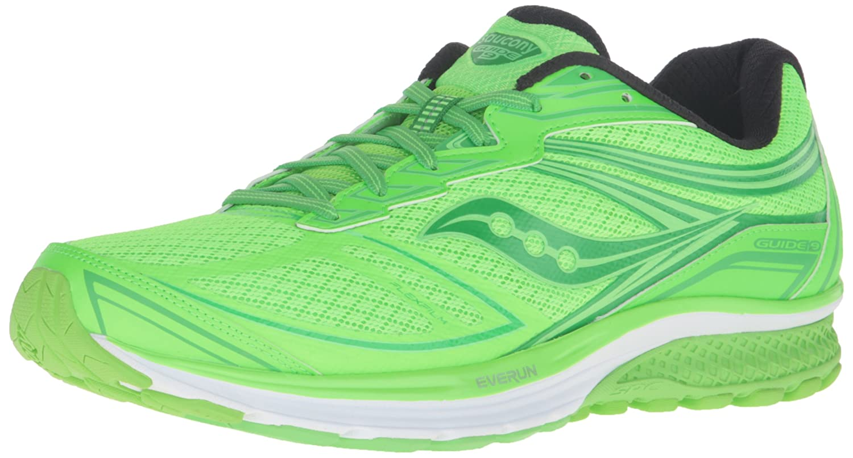 Saucony Guide 9 Pop - Zapatillas de Running de Competición Hombre 45 EU|Multicolor (Toe The Lime)