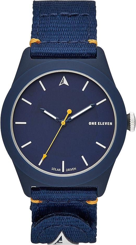 Amazon Com One Eleven Quartz Watch With Nylon Strap Blue 22 Model Cboe2020 Watches