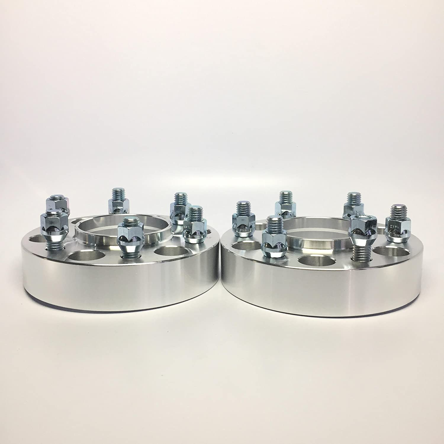 2 Pieces 1.5 38mm Hub Centric Wheel Spacers Bolt Pattern 6x135 to 6x135 Center Bore 87.1mm Thread Pitch 14x2.0 Studs