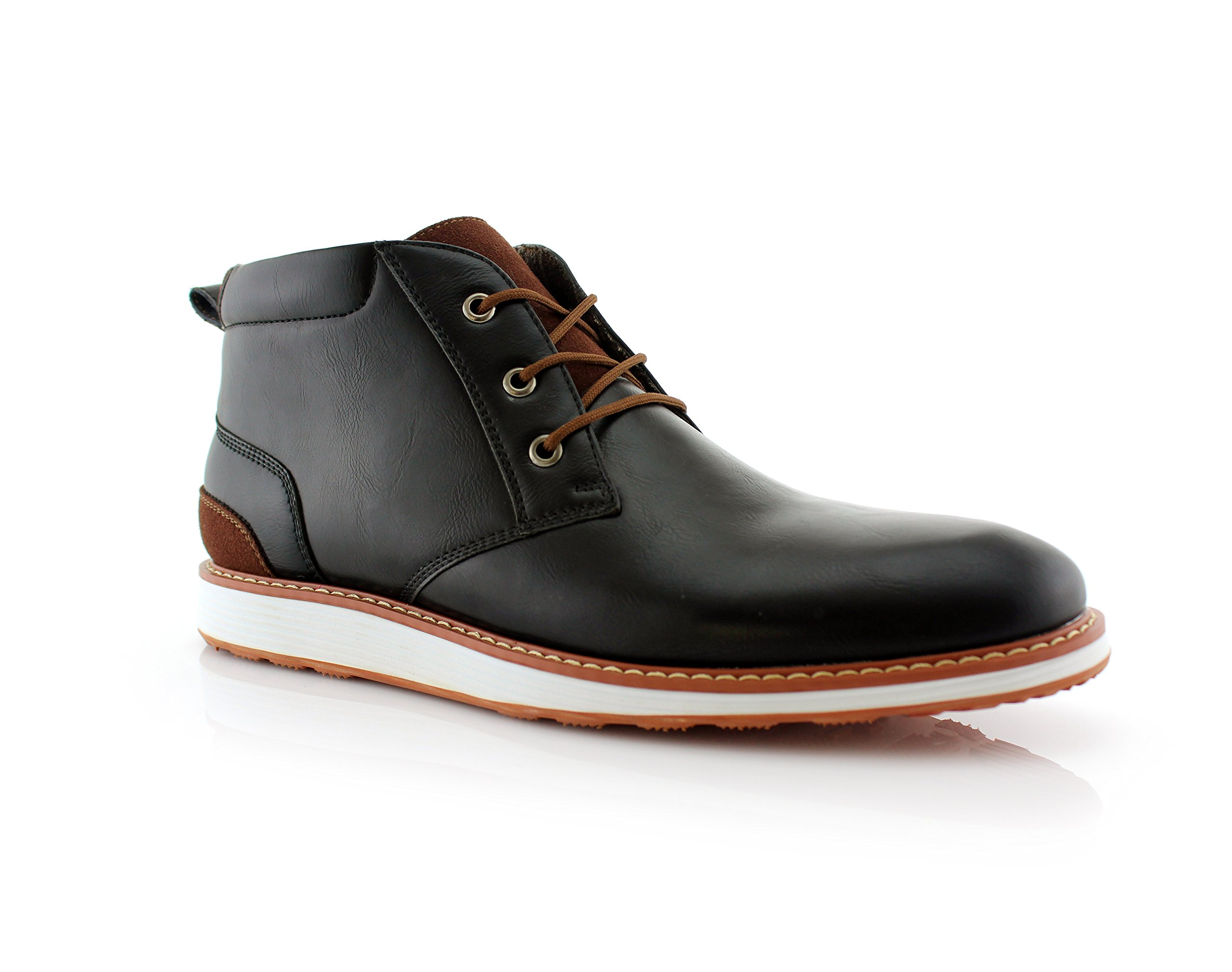 Ferro Aldo Houstan MFA506031 Mens Casual Chukka Mid-Top Sneaker Boots – Black, Size 8 by Ferro Aldo