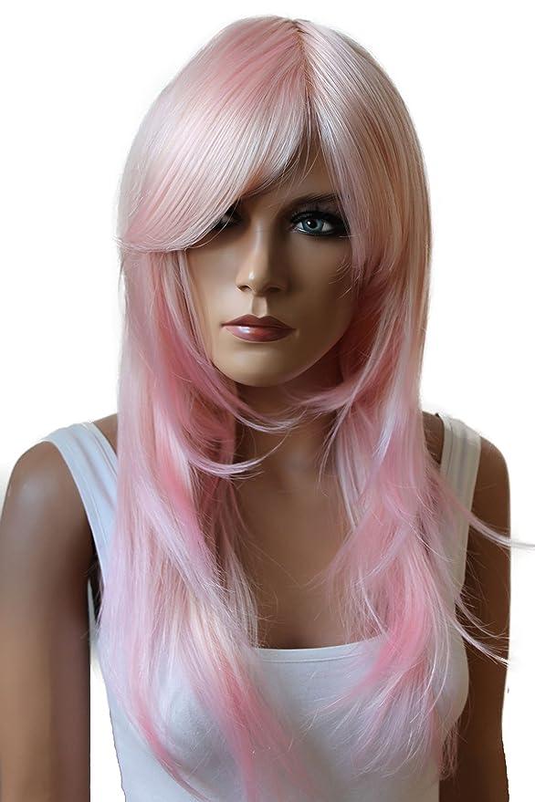 70 opinioni per PRETTY SHOP unisex parrucca capelli lunghi fibra sintetica resistente al calore
