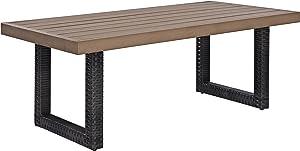 Crosley Furniture CO7225-BR Beaufort Outdoor Wicker Coffee Table, Brown