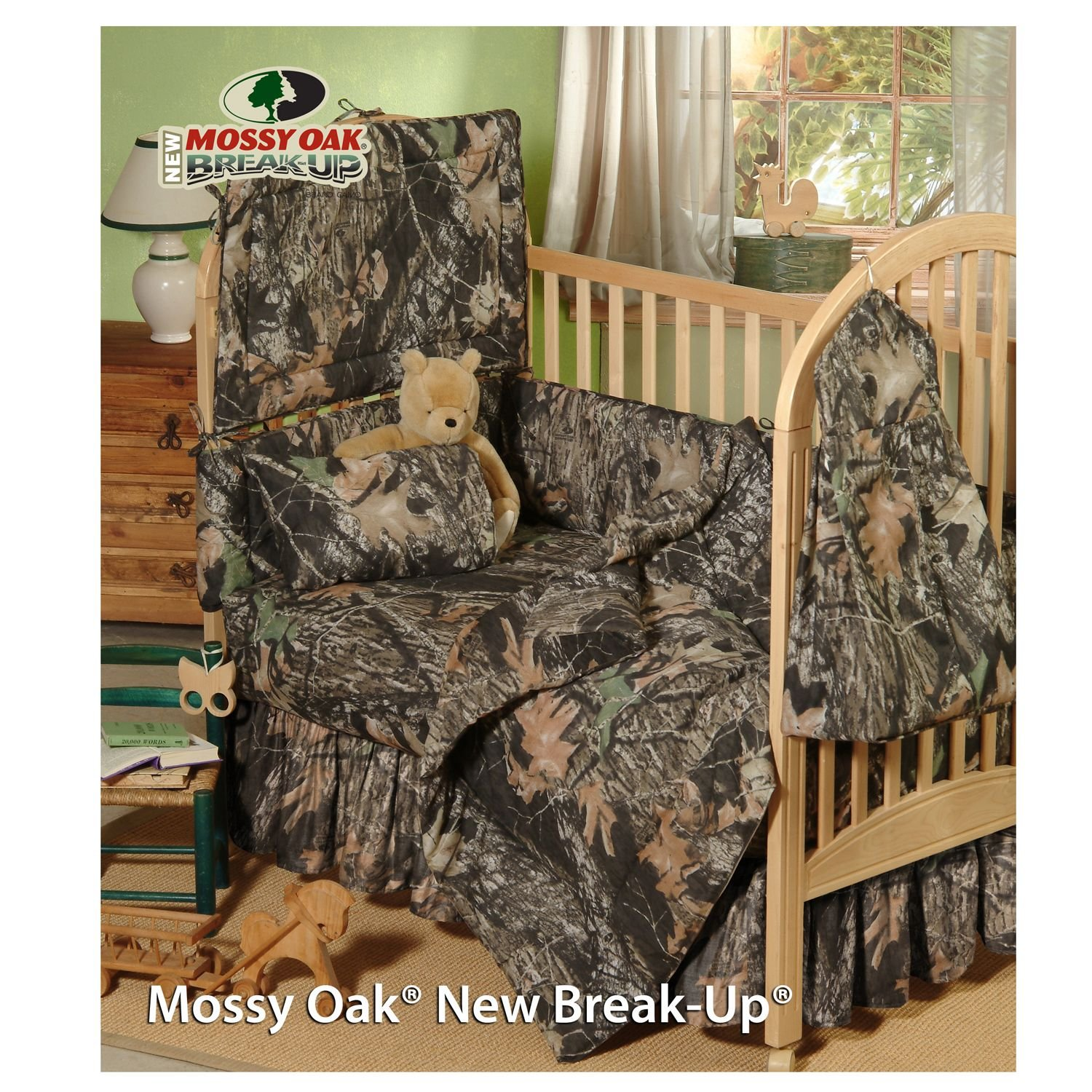 Amazon.com: Mossy Oak New Break Up Camo   6 Piece Crib Set Includes (Crib  Fitted Sheet, Crib Bumper Pad, Crib Headboard Pad, Crib Comforter, Crib  Bedskirt ...