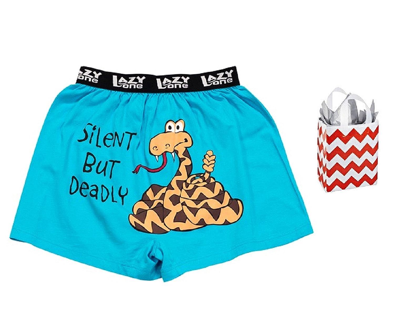Silent But Deadly Little Boys' Comical Boxer Shorts & Bag - Multi-Pack