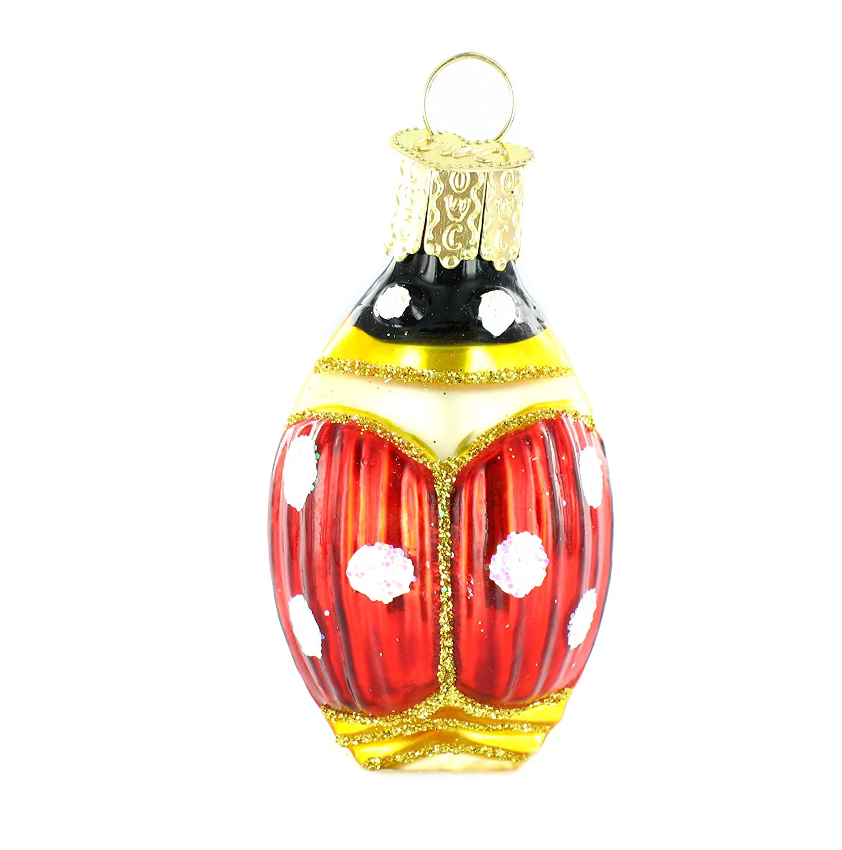 Ladybug ornaments - Amazon Com Old World Christmas Lucky Ladybug Glass Blown Ornament Home Kitchen