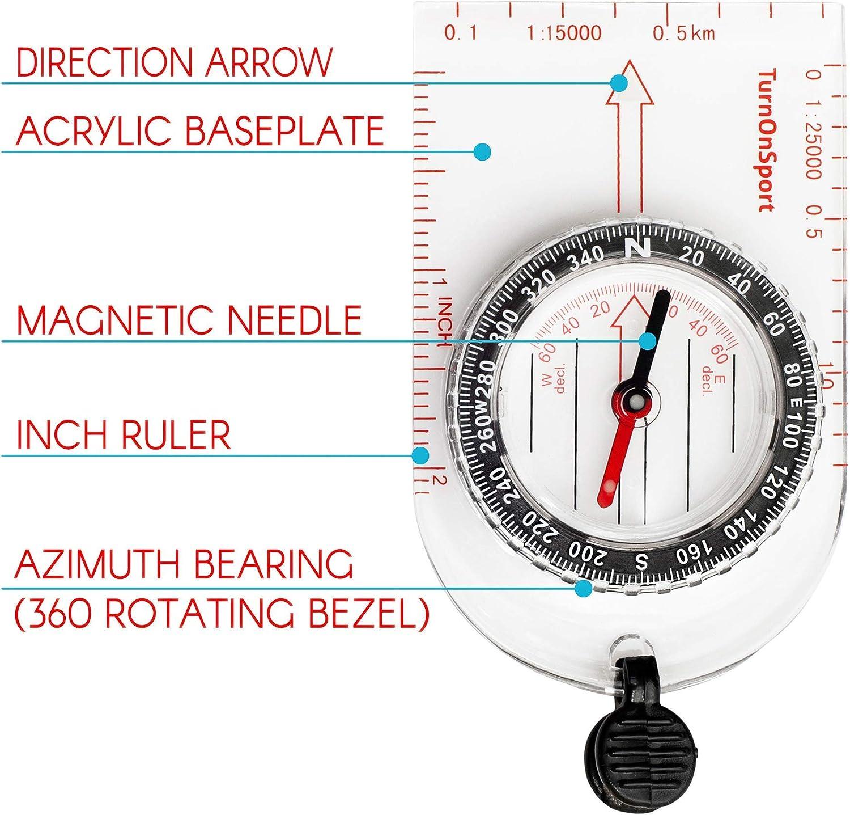 Magnifying Orienteering Compass Navigation Map Reading Scouts Cadet HikiHFUKJKU