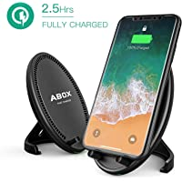 ABOX Qi Wireless Charging Pad Stand with Cooling Fan