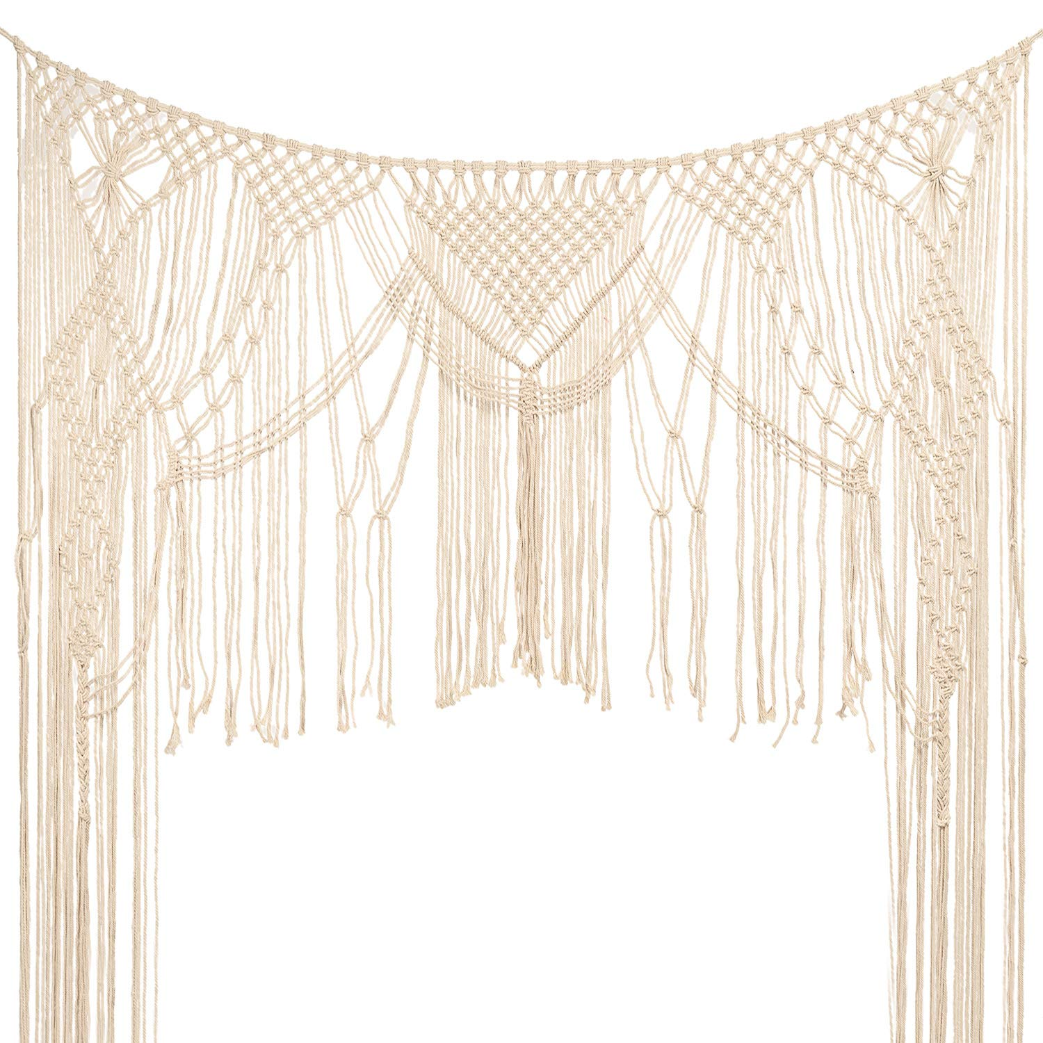 Large Macrame Wall Hanging,Macrame Woven Wall Hanging,Macramé Handwoven Boho Chic,Bohemian Wedding Backdrop for Home Art Decor,Living Room Bedroom Decorations,Ceremony or Photography. 5FT X 6FT by MEJOY