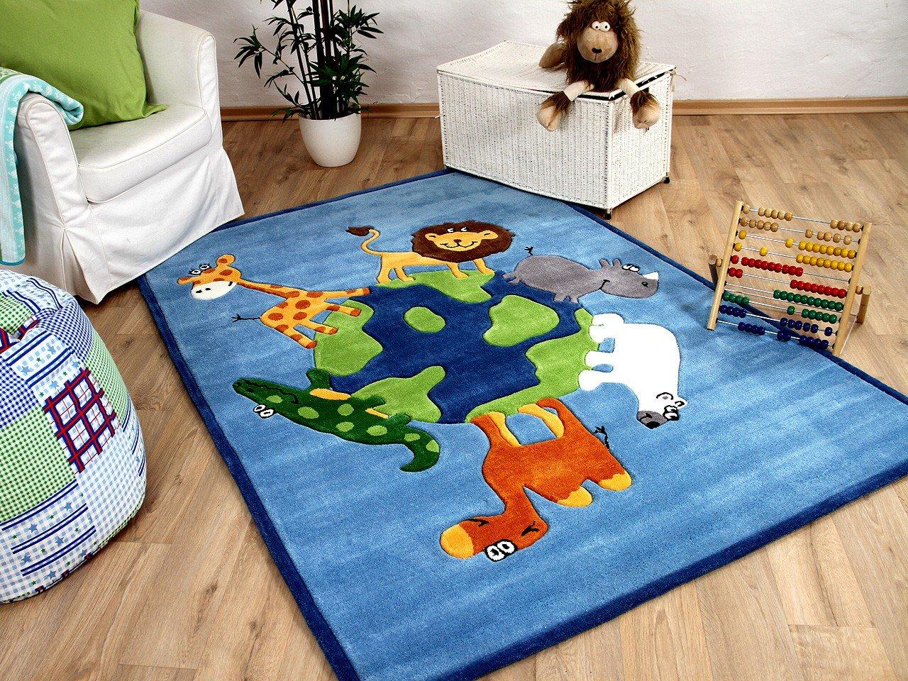 Lifestyle Kinderteppich Blau Tierwelt     Sofort Lieferbar