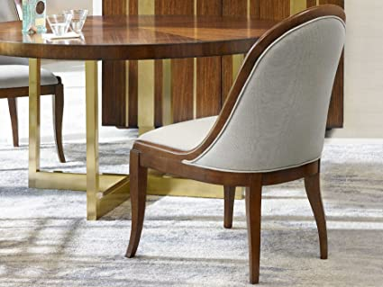 Hooker Furniture Cynthia Rowley Front Row Dining Side Chair In Beige
