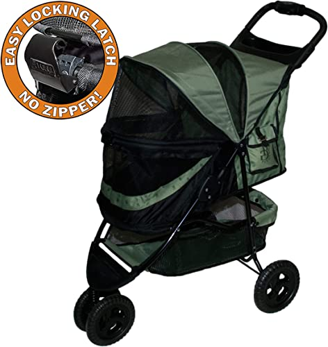 Pet Gear No-Zip Special Edition 3 Wheel Pet Stroller for Cats Dogs, Zipperless Entry, Easy One-Hand Fold, Removable Liner