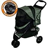 Pet Gear No-Zip Special Edition 3 Wheel Pet Stroller for Cats/Dogs, Zipperless Entry, Easy One-Hand Fold, Removable…