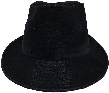 8b618225c8ff6 ハッピーハット ワイルド中折れハット 型押しヴィンテージ hat-1065-02 ブラック