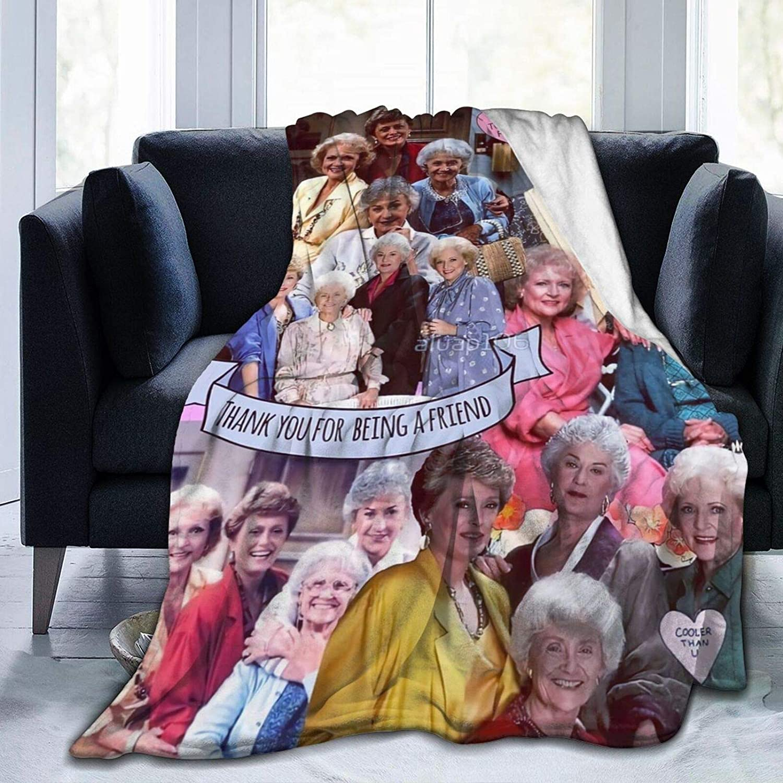 PINGMING The-Golden-Girls Pop-Art Gallery Blanket Soft Microfiber Fleece Throw Blankets Home Decor Bedroom Living Room Sofa Fleece Blankets Throw(50x40In)