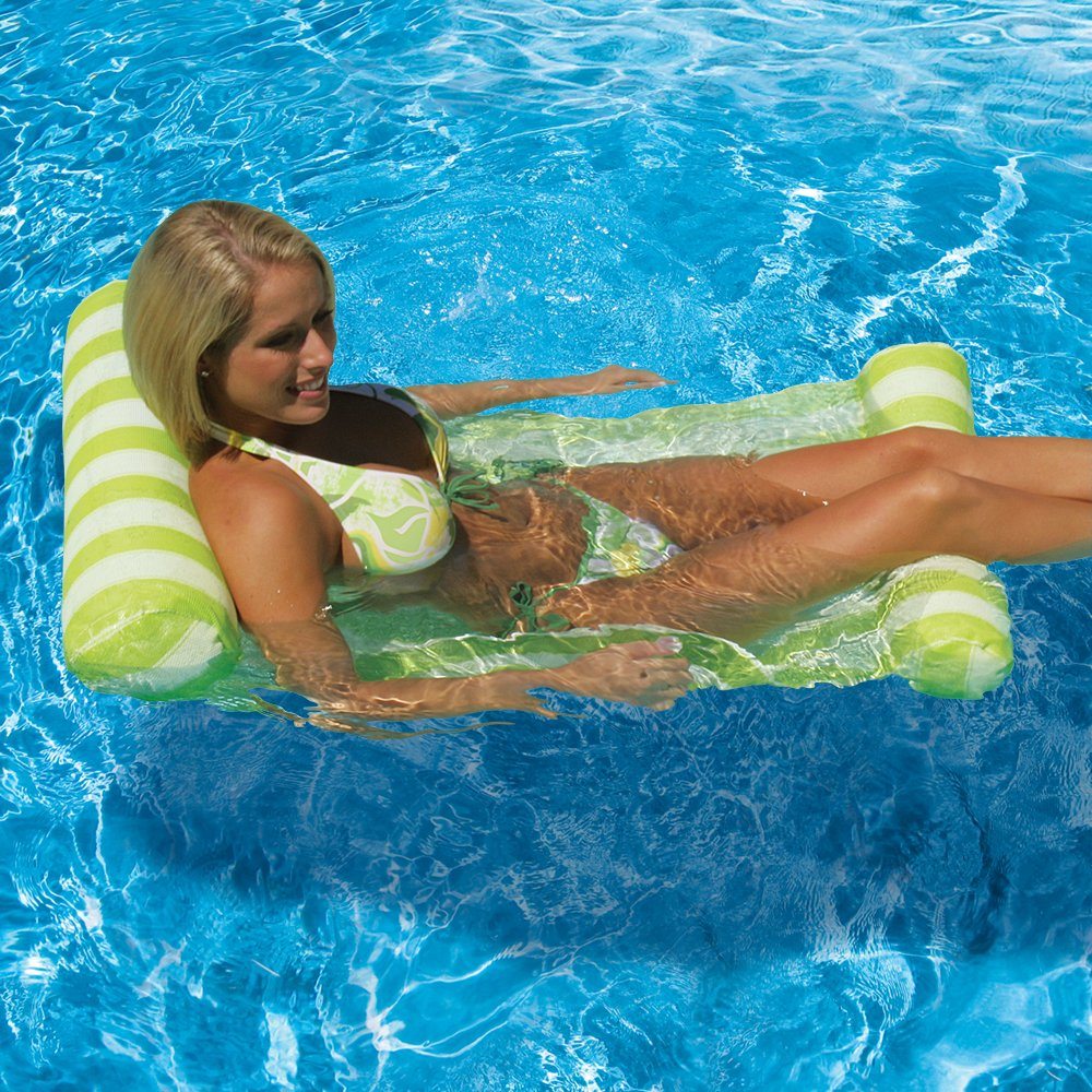 Amazon.com: Poolmaster Pool Float 07433 Floating Water Hammock Lounge    Green: Toys U0026 Games